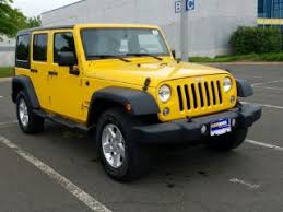 yellow jeep wrangler unlimited yellow jeep wrangler for sale carmax
