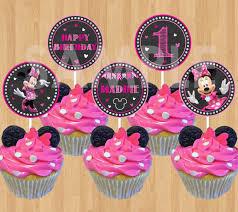 minnie mouse cupcakes minnie mouse cupcake topper printable diy minnie cupcake