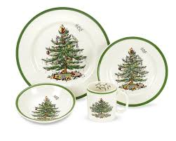 amazon com spode christmas tree 4 piece dinnerware place setting