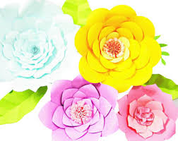 giant paper flower templates diy paper flowers svg flower