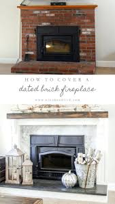 how cover your brick fireplace before after stone ideas center