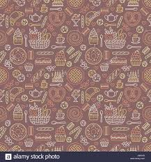 seamless pattern food bakery seamless pattern food vector background of brown yellow