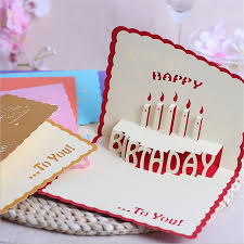 greeting cards 10pcs lot creative happy birthday 3d solid handmade greeting cards