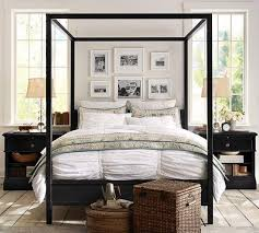 steel frame canopy bed