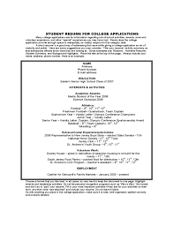 academic resume for college application college application domosens tk