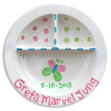 personalized ceramic plate ceramic birth plates personalized keepsake new baby gift