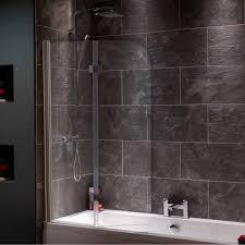 Curved Shower Bath Screen Orchard 6mm Hinged Straight Shower Bath Screen Victoriaplum Com