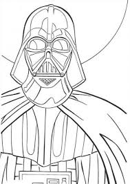 coloring page darth vader pages free online to print printable for