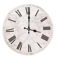 pendule de bureau pendule horloge murale mappe monde neuve 34cm bureau bibliothète
