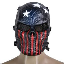 aliexpress com buy skull airsoft party mask paintball full face