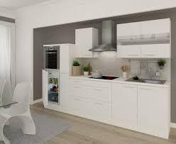 k che wei hochglanz respekta premium einbau küche küchenzeile 300 cm weiß weiß