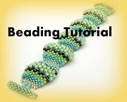 bracelet pattern tutorials images Beading tutorial seed bead bracelet pattern flat cellini spiral jpg