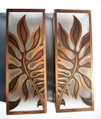 Copper Wall Decor by Copper Palm Tree Sconce Tropical Wall Sconces Austin Tropical Wall