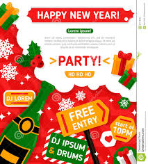Invitation Cards For Christmas Party Merry Christmas And Happy New Year Party Stock Photo Image 60119052