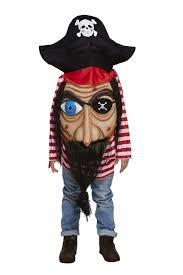 boys pirate halloween costume kids jumbo giant pirate face halloween costume fancy dress