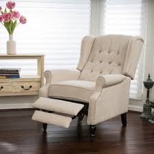 Armchair Recliners Christopher Knight Home Walter Light Beige Fabric Recliner Club
