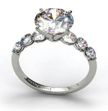 scalloped engagement ring scalloped sidestone engagement ring in platinum engagement ring wall
