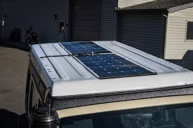 solar panels on roof jeep build complete the road chose me