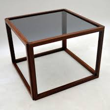 danish retro rosewood cube coffee table by kai kristiansen vintage