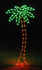 outdoor lighted palm tree decorations sacharoff decoration