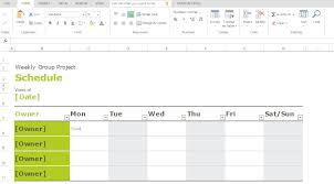 group schedule templates for excel