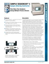 Sample Controller Sample Sequencer 5 Sentry Equipment Corp Pdf Catalogue