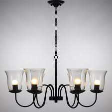Black Chandelier With Shades Chandelier Glass Shades Cheap Lighting Ideas Pinterest Glass