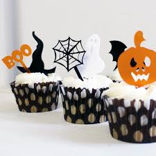 halloween decorations halloween mini cake toppers set of six