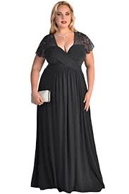 evening maxi dresses lalagen women s lace sleeve v neck plus size evening maxi dress gown
