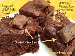 easy 5 ingredient healthy brownies monimeals