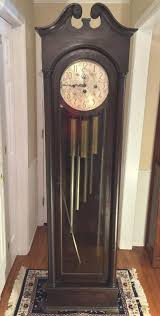 Grandfather Clock Weights Vintage Colonial Model 1353 Grandfather Clock 5 Tubes Not Running