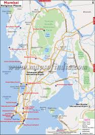 Bombay India Map by Religious Places In Mumbai