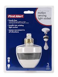 add motion sensor to existing light first alert pir725 motion sensing motion activated light socket