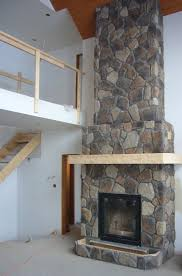 stacked stone veneer fireplace dact us