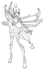 coloring download winx club bloomix coloring pages winx club