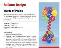 133 best balloon recipes images on pinterest balloons balloon