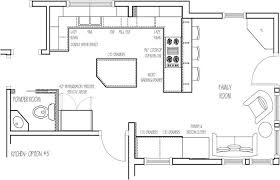 layout of kitchen and its brilliant kitchen floor plans home