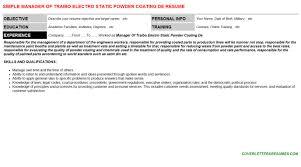 Painter Resume Template Powder Coat Painter Resumes U0026 Cover Letters