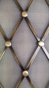 decorative wire mesh for cabinets custom formed 403 style wire grille with rosettes and mesh backing