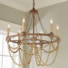bead chandelier rustic refined wood bead chandelier shades of light