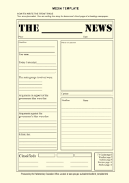 blank newspaper article template for kids template update234 com