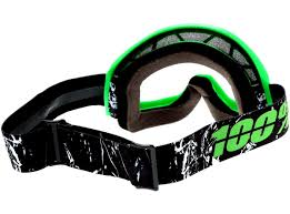 goggles for motocross 100 percent new mx strata crafty dirt bike clear lime green