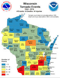 Wisconsin Counties Map by Wisconsin Tornado And Severe Weather Statistics