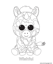 wishful beanie boo coloring pages printable