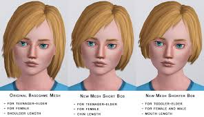 child bob haircut sims 4 mod the sims shorter bob for male and female all ages