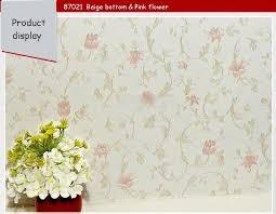 pvc romantic country modern flower design floral wallpaper