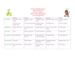 Planning Agenda Template Preschool Lesson Plan Template For Weekly Planning Plans
