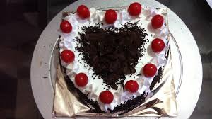 heart shape black forest cake made at home youtube