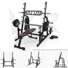 Bench Press Machine Bar Weight Olympic Squat Rack Adjustable Power Bench Press Barbell Stand