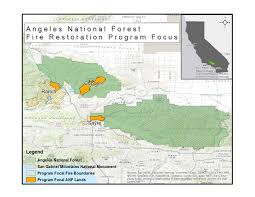 Wildfire Map National by Angeles National Forest U2013 Wildfires Restoration Grant Program